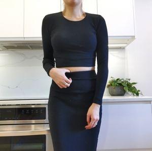 Zara Knit high waisted skirt & top set